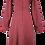Thumbnail: Heart print dress in burgundy