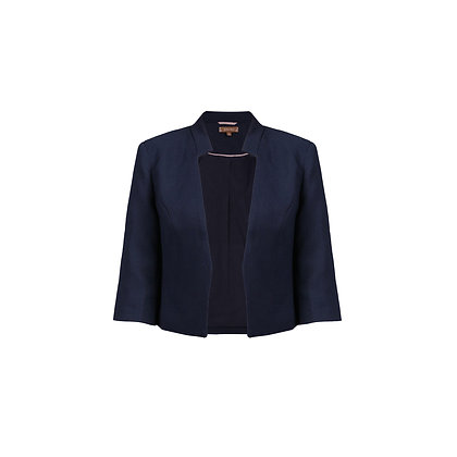 Crop jacket in navy