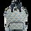 Thumbnail: Oilcloth rucksack with hand drawn petal print