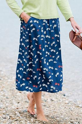 Flora midi skirt in navy