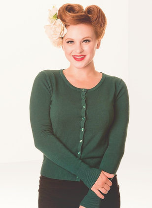 Cardigan in forest green