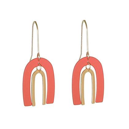 Double horseshoe earring in orange
