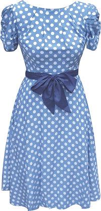Zelda dress in blue spot