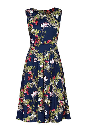 Navy floral bird dress