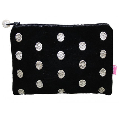 Velvet ovals purse in black