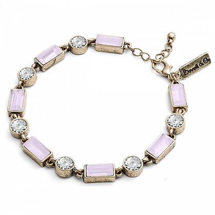 New! Pale pink 1950's bar style bracelet