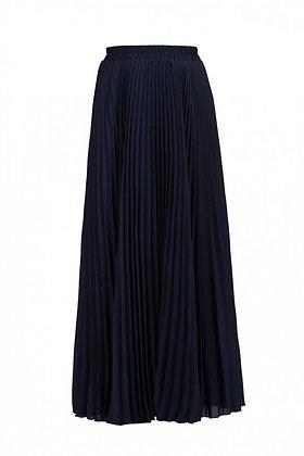 Pleats maxi skirt in navy