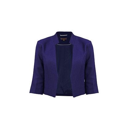 Crop jacket in royal blue