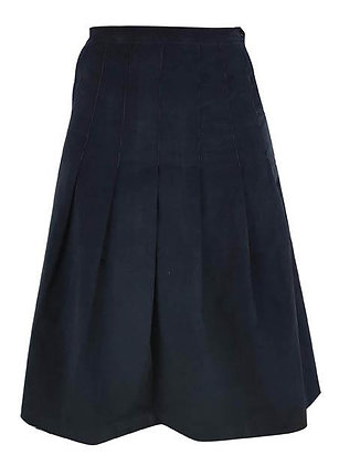 Pin cord midi skirt in navy