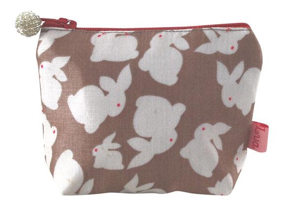 Rabbit mini purse in mink