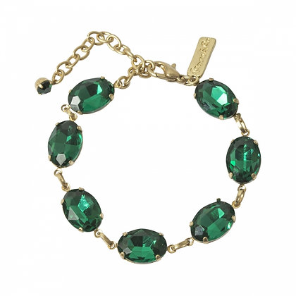 Emerald green stone bracelet