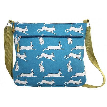 Hare print messenger bag