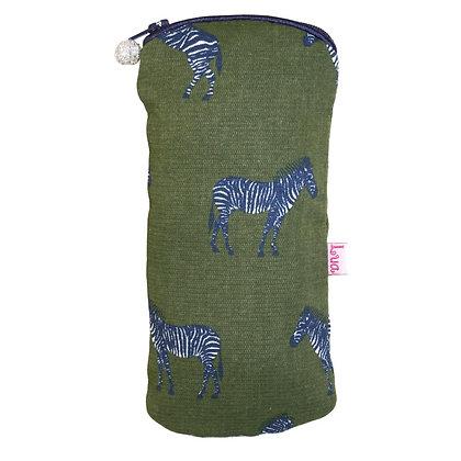 Zebra glasses purse in olive
