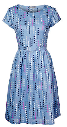 Geo spot dress in blue