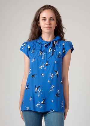 Swallow blouse in blue