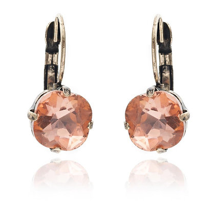 Peach crystal earrings