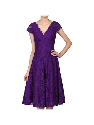 Swing lace dress in purple