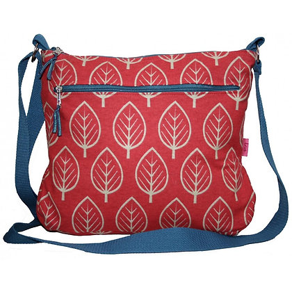 Leaf messenger bag in red