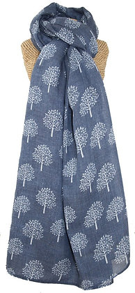 Mulberry tree scarf in blue