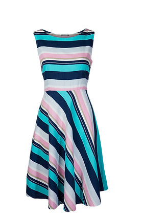 Turnout stripe dress mint and navy