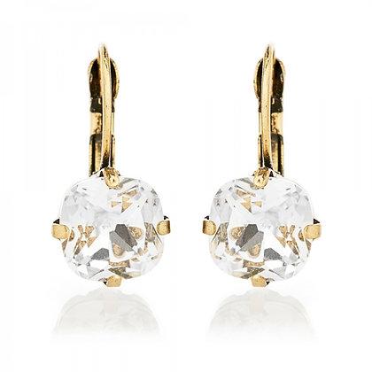 Clear crystal earrings
