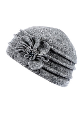 Cloche hat in grey
