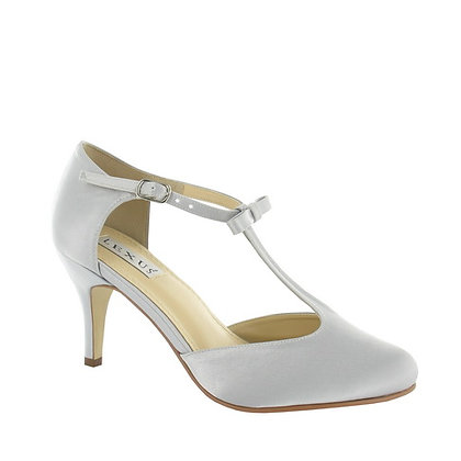 Stacey T bar shoes in pale silver