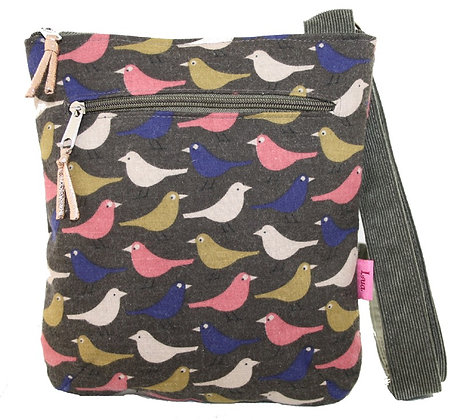 Birdy crossbody bag in chocolate