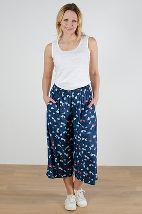 Evie daisy trousers in navy