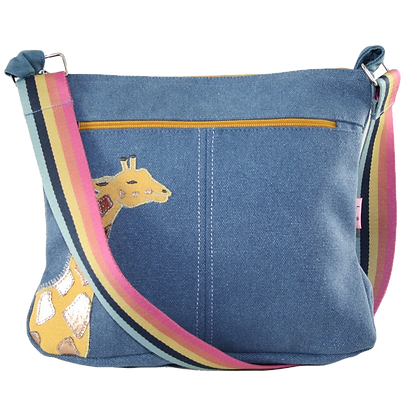 Giraffe messenger bag in denim