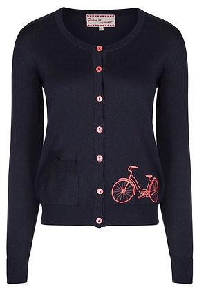 Cycle cardigan in navy