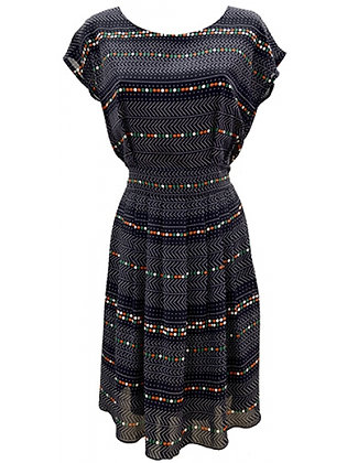 Dot and Dash dress in navy