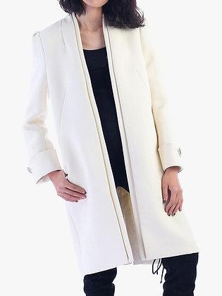 Dress coat in cream