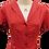Thumbnail: Pin dot print dress in red