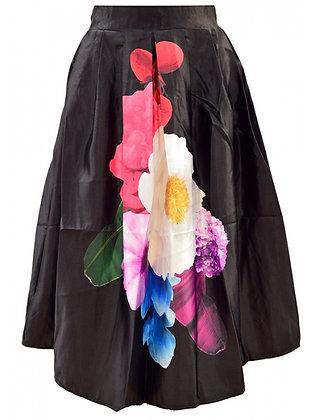 Placement flower print skirt