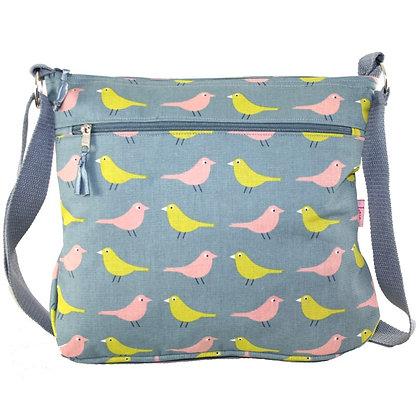 Birdie messenger bag in blue