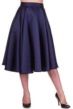 Swing satin skirt in navy