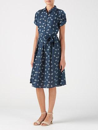 Dandelion shirt dress in ink blue