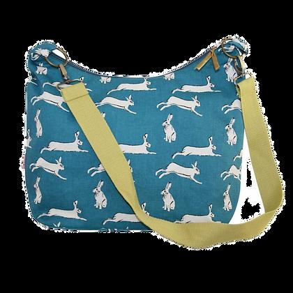 Hare print sling bag