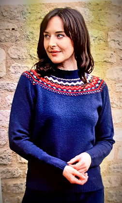 Fairisle sweater in navy