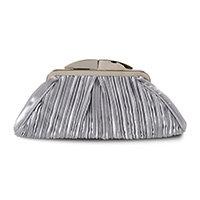 Satin pleat bag silver