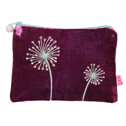 Allium velvet purse in plum