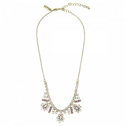 Antique style crystal necklace