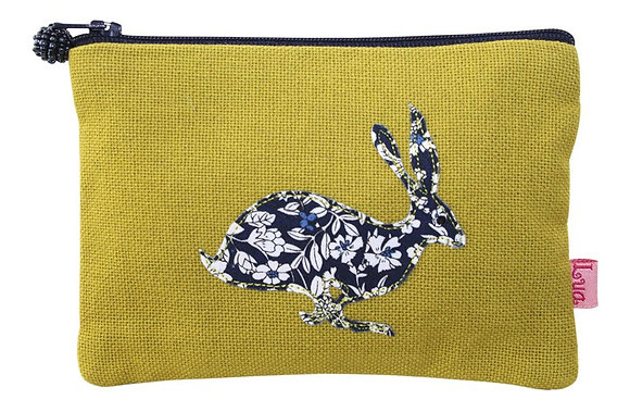 Applique hare purse in citrus