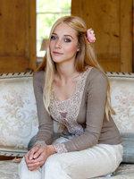 Gabriella Knight lace cardigan mushroom