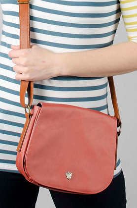 Saddle bag in earthy tan