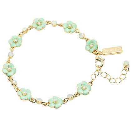 Petite fleur enamel bracelet