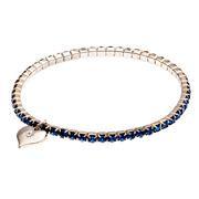 Deep blue crystal stretch link bracelet