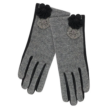Maisie gloves in grey and black