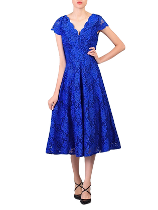 Swing lace dress in royal blue